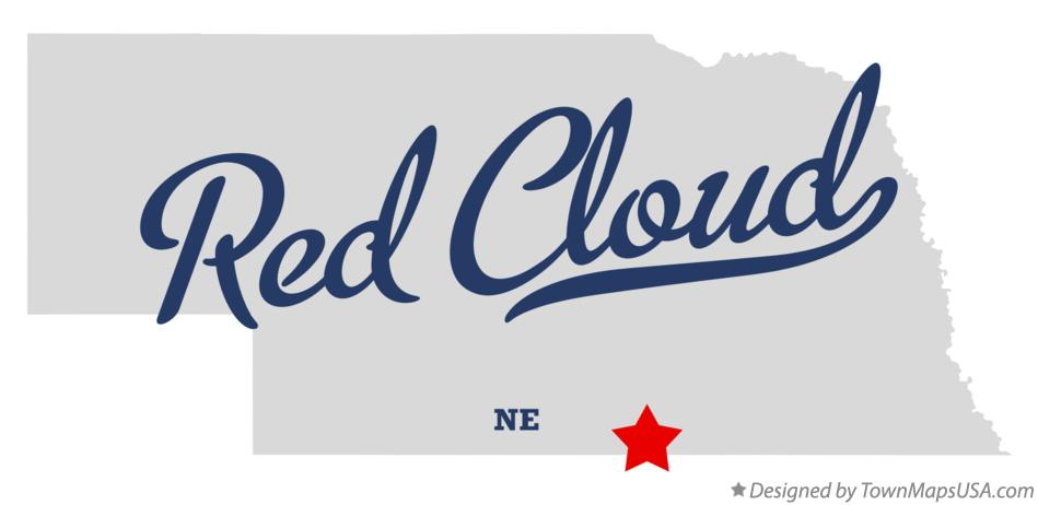 Map of Red Cloud, NE, Nebraska