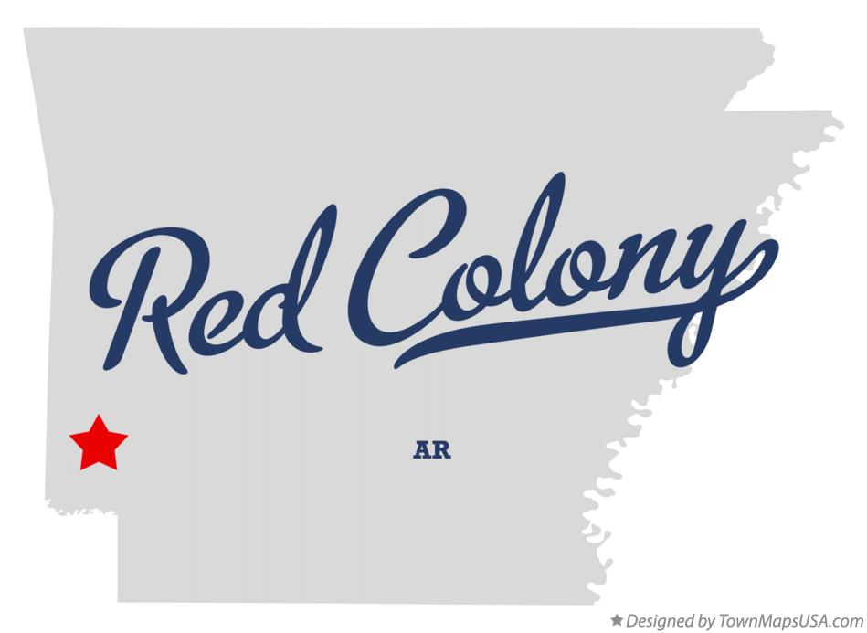 Map of Red Colony Arkansas AR