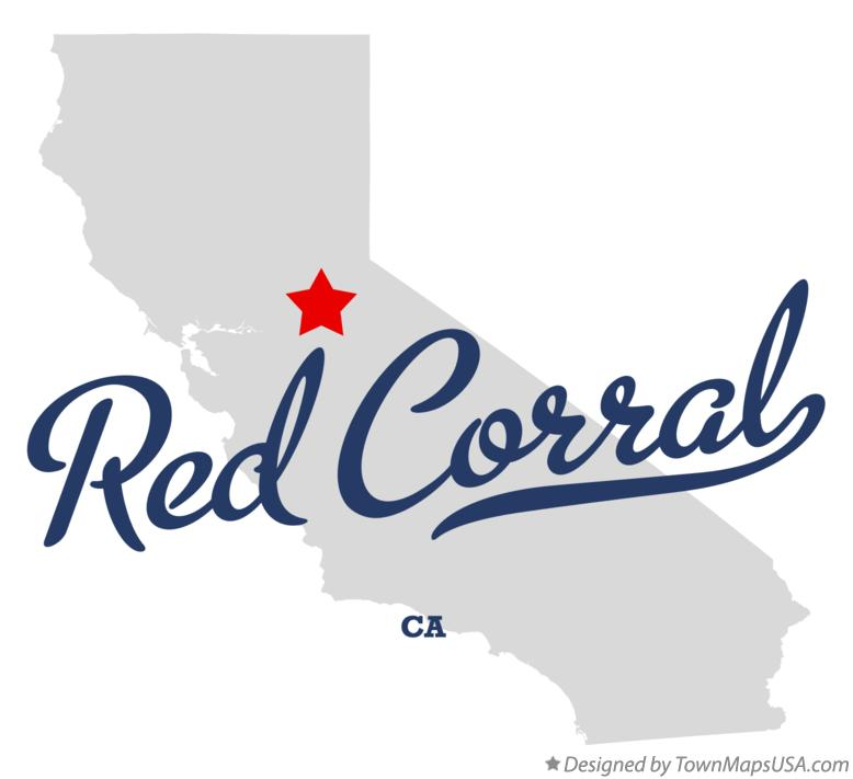 Map of Red Corral California CA
