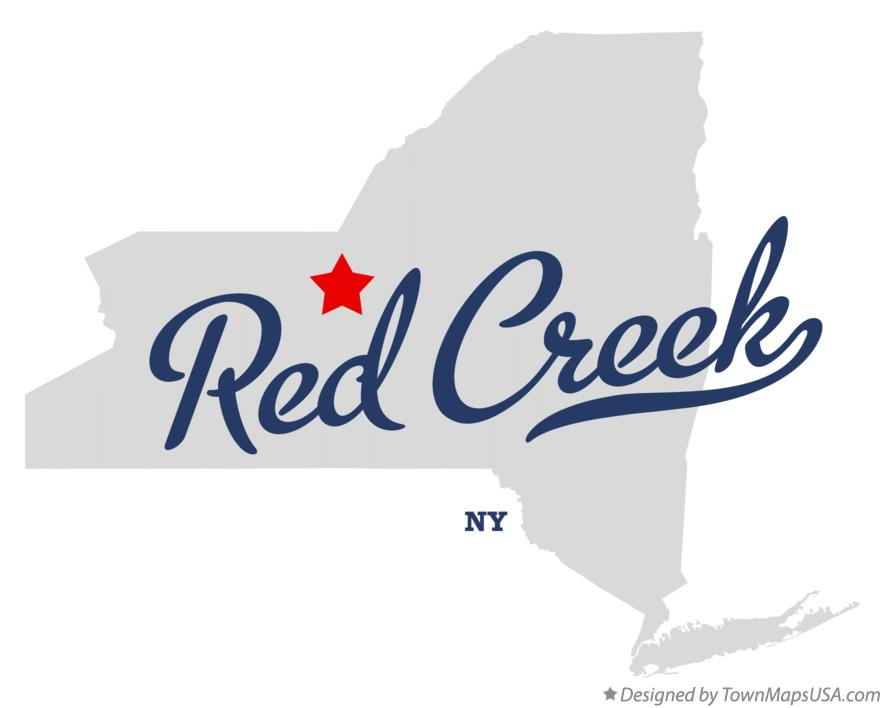 Map of Red Creek New York NY