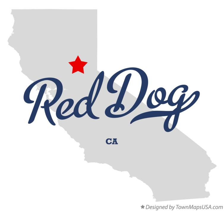 Map of Red Dog California CA