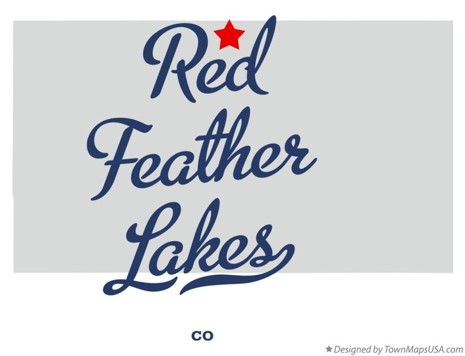 Map of Red Feather Lakes Colorado CO
