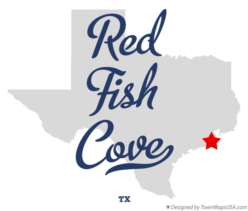 Map of Red Fish Cove Texas TX