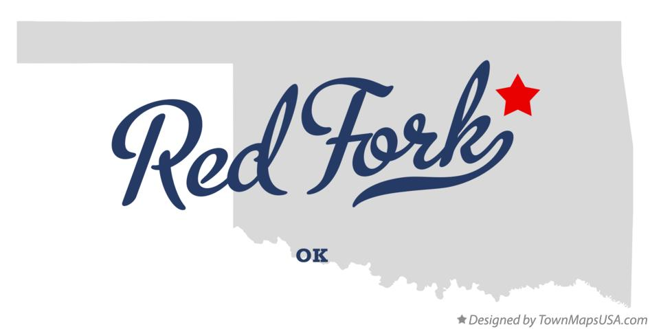 Map of Red Fork Oklahoma OK