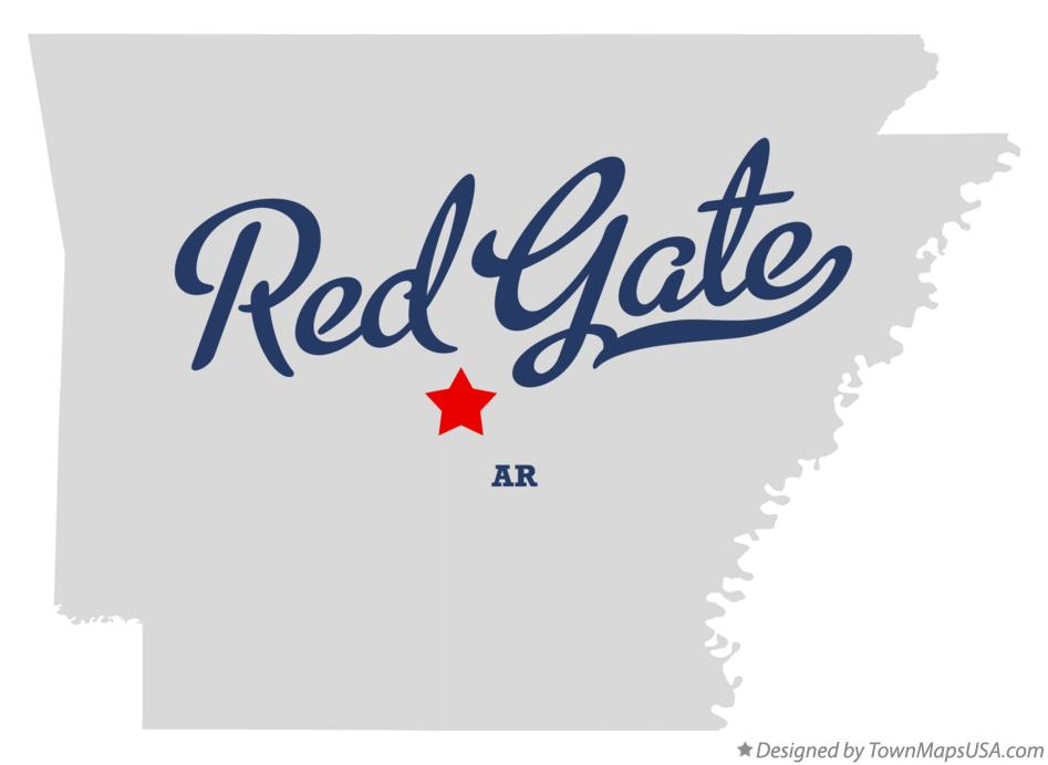 Map of Red Gate Arkansas AR