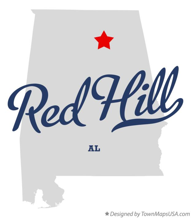Map of Red Hill Alabama AL
