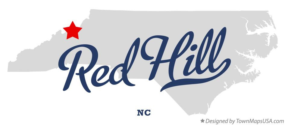 Map of Red Hill North Carolina NC