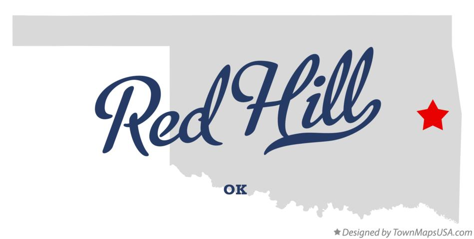 Map of Red Hill Oklahoma OK