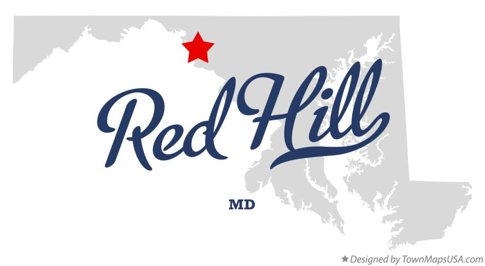 Map of Red Hill Maryland MD