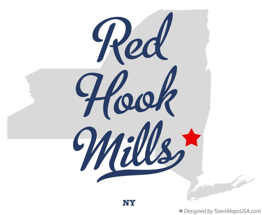 Map of Red Hook Mills New York NY