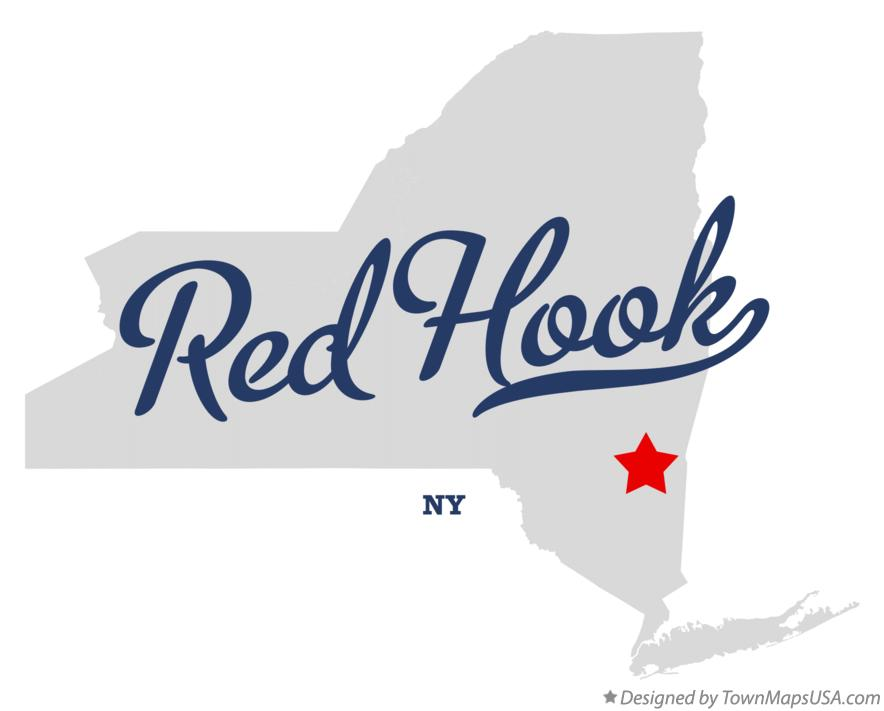 Map of Red Hook New York NY