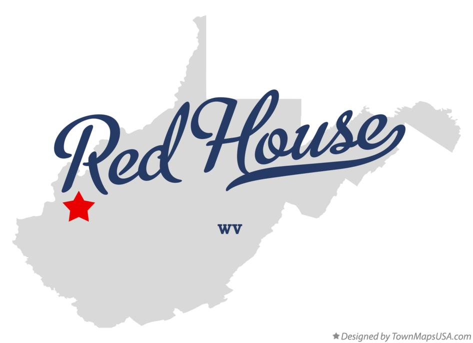 Map of Red House West Virginia WV