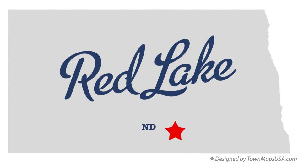 Map of Red Lake North Dakota ND