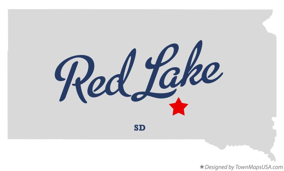 Map of Red Lake South Dakota SD