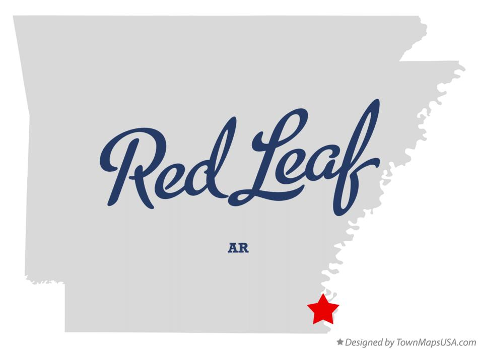 Map of Red Leaf Arkansas AR