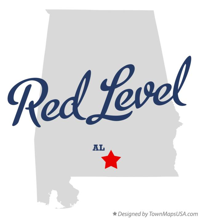 Map of Red Level Alabama AL