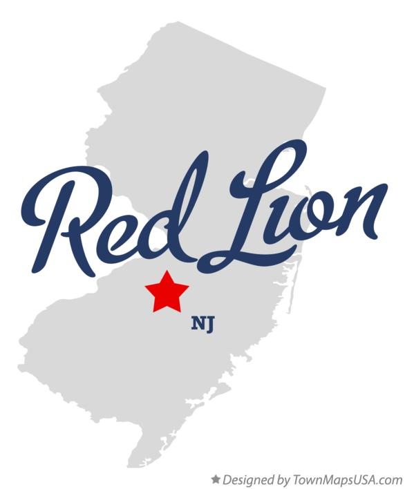 Map of Red Lion New Jersey NJ