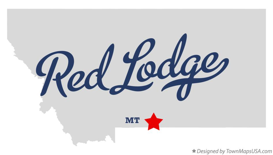 Map of Red Lodge Montana MT