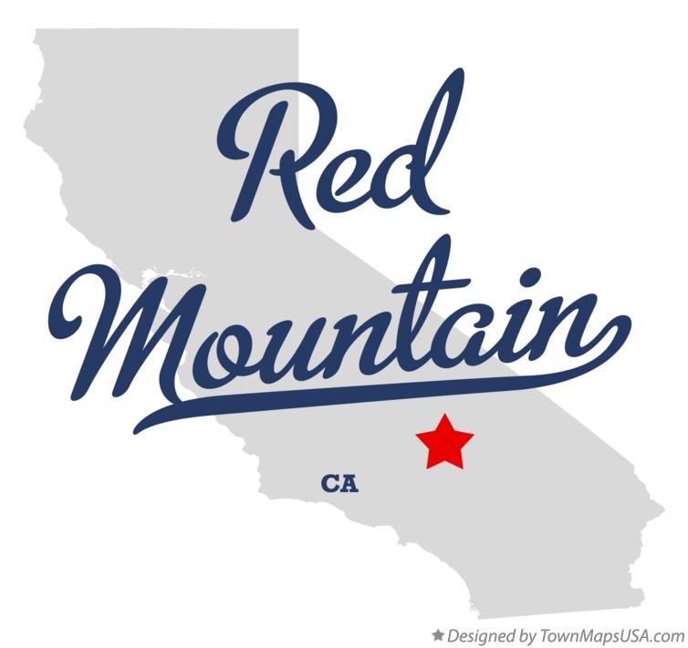 Map of Red Mountain California CA