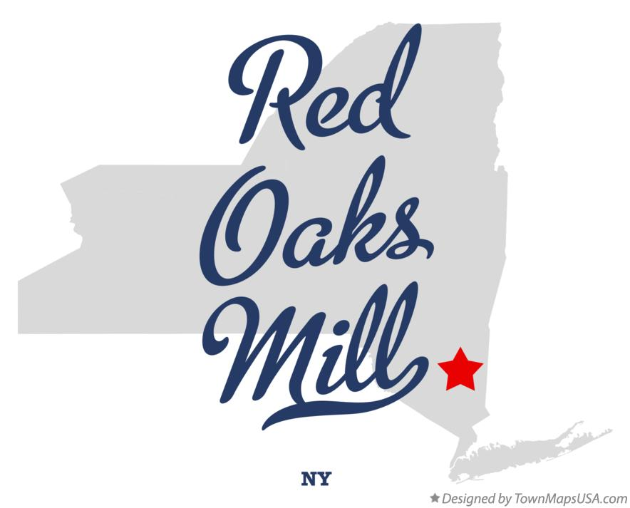 Map of Red Oaks Mill New York NY