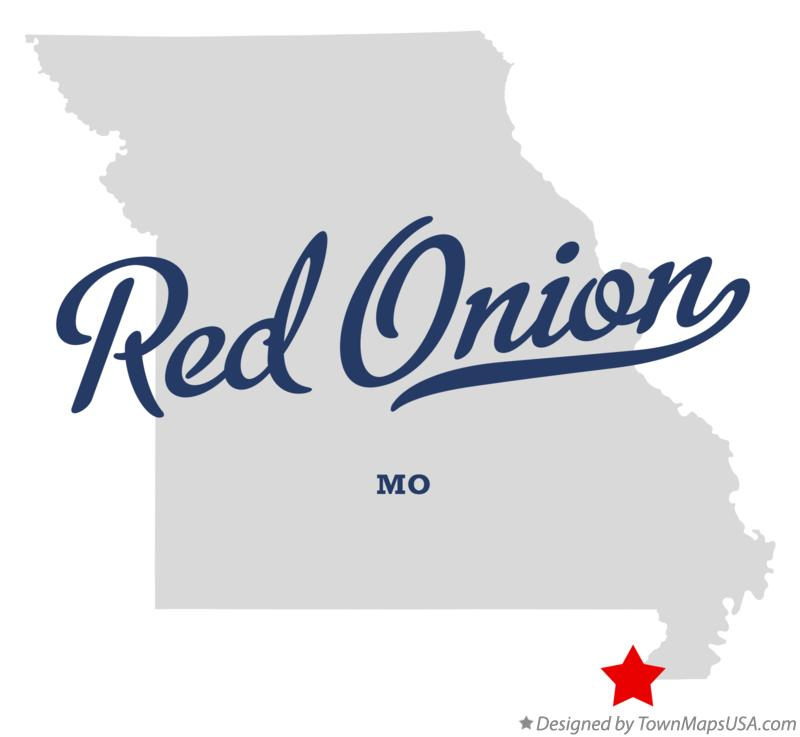 Map of Red Onion Missouri MO