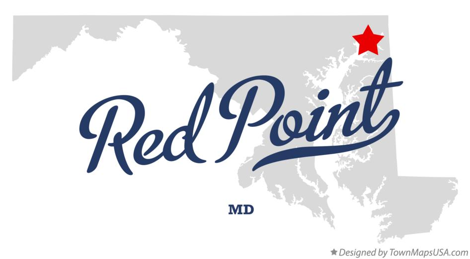 Map of Red Point Maryland MD