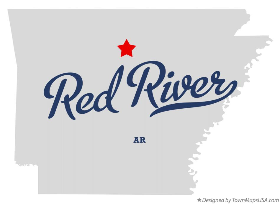 Map of Red River Arkansas AR