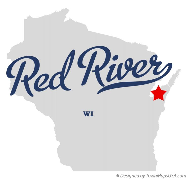 Map of Red River Wisconsin WI