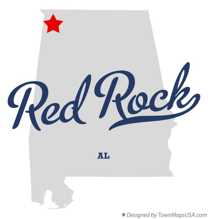 Map of Red Rock Alabama AL
