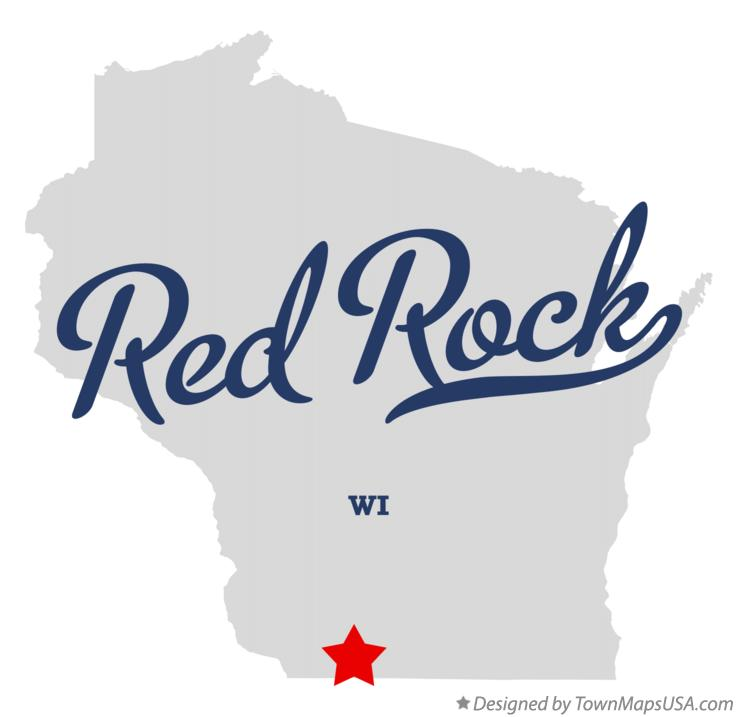 Map of Red Rock Wisconsin WI