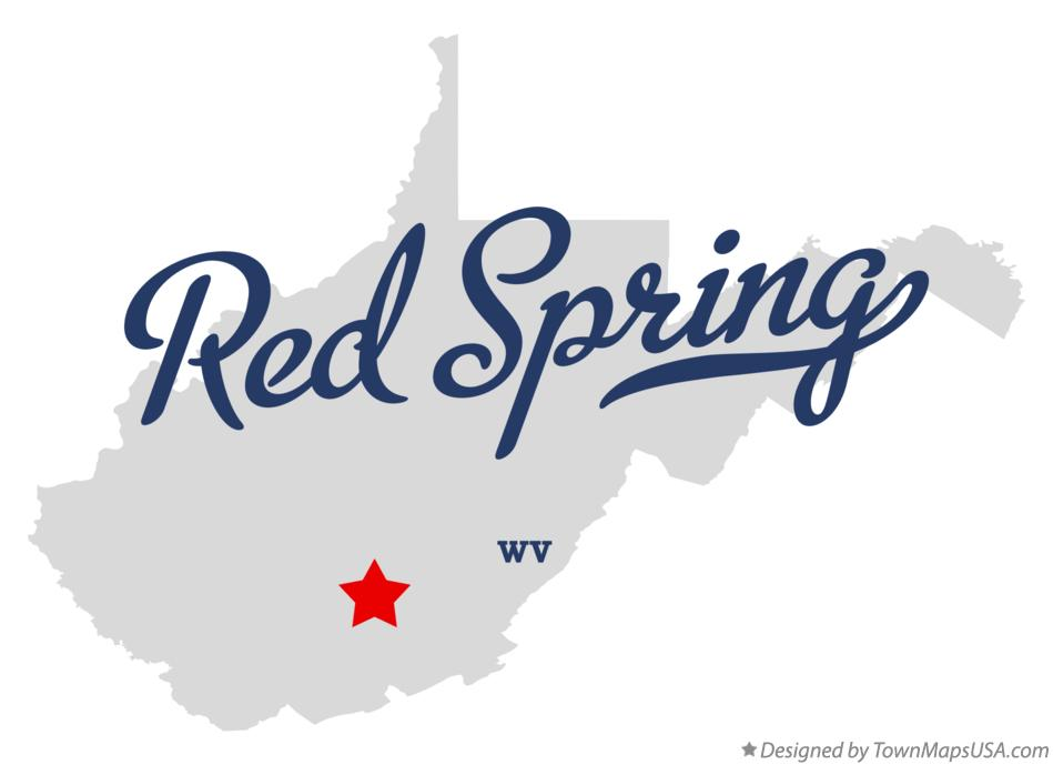 Map of Red Spring West Virginia WV