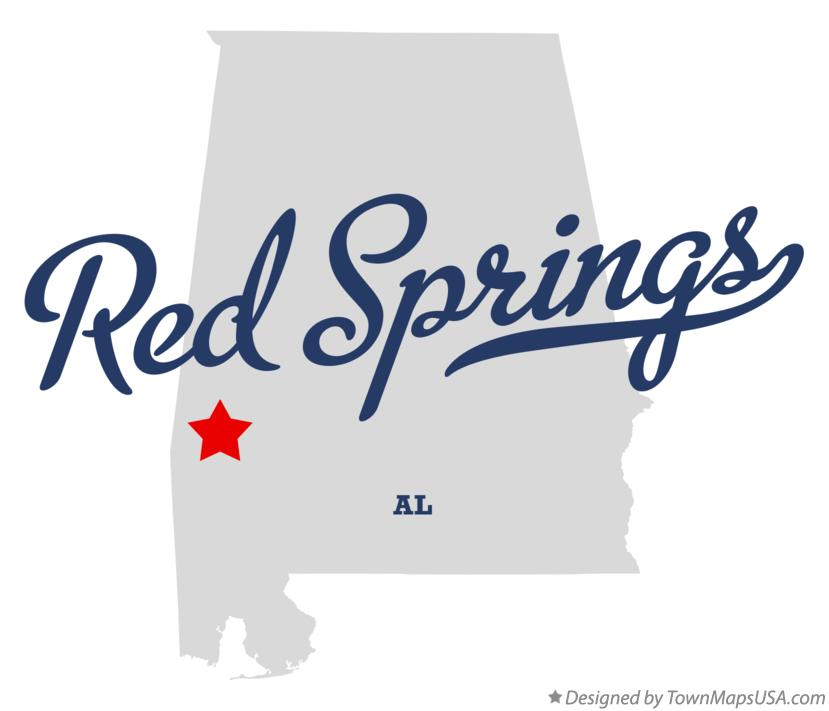 Map of Red Springs Alabama AL