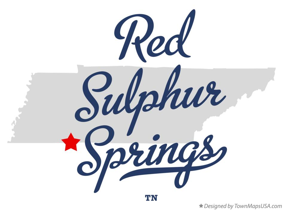 Map of Red Sulphur Springs Tennessee TN