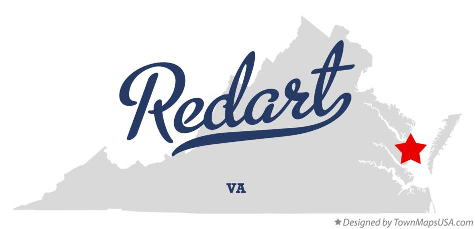 Map of Redart Virginia VA