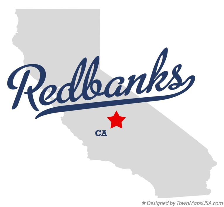 Map of Redbanks California CA