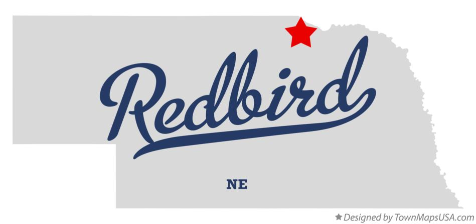 Map of Redbird Nebraska NE