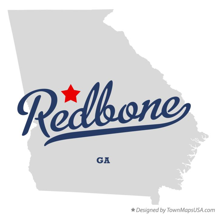 Map of Redbone Georgia GA