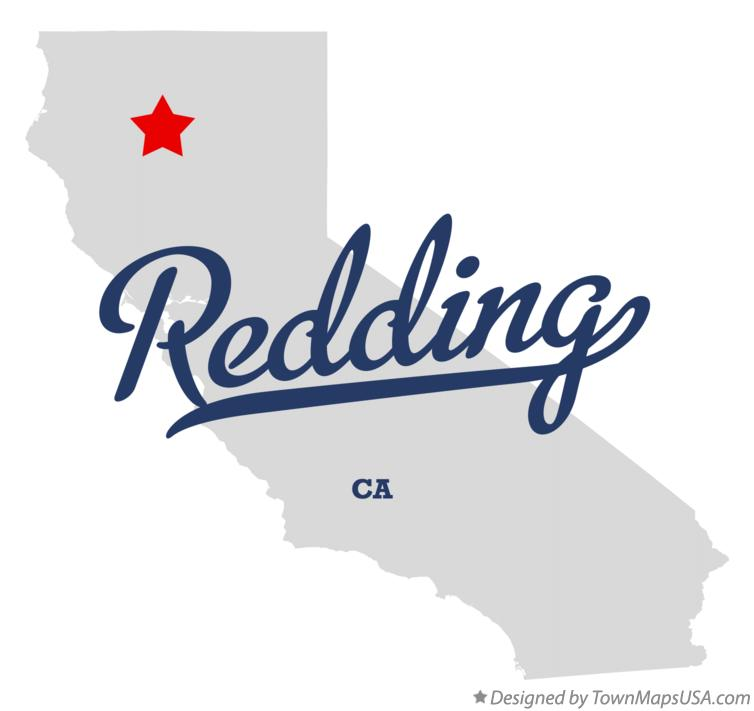 Map of Redding California CA