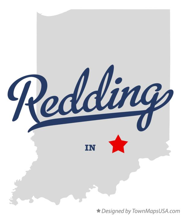 Map of Redding Indiana IN