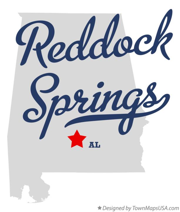 Map of Reddock Springs Alabama AL