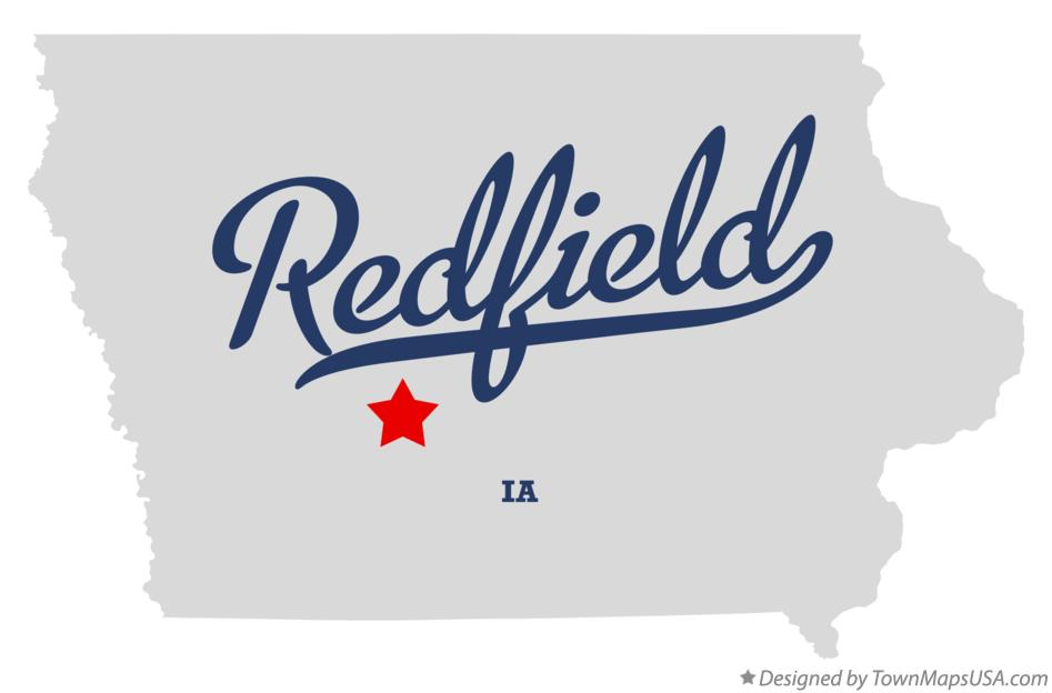 Map of Redfield Iowa IA