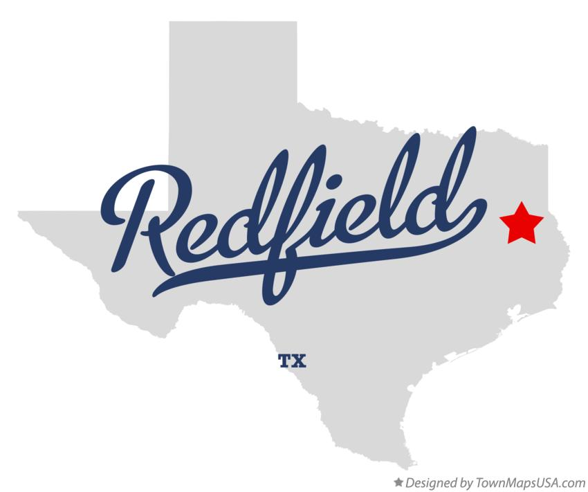 Map of Redfield Texas TX