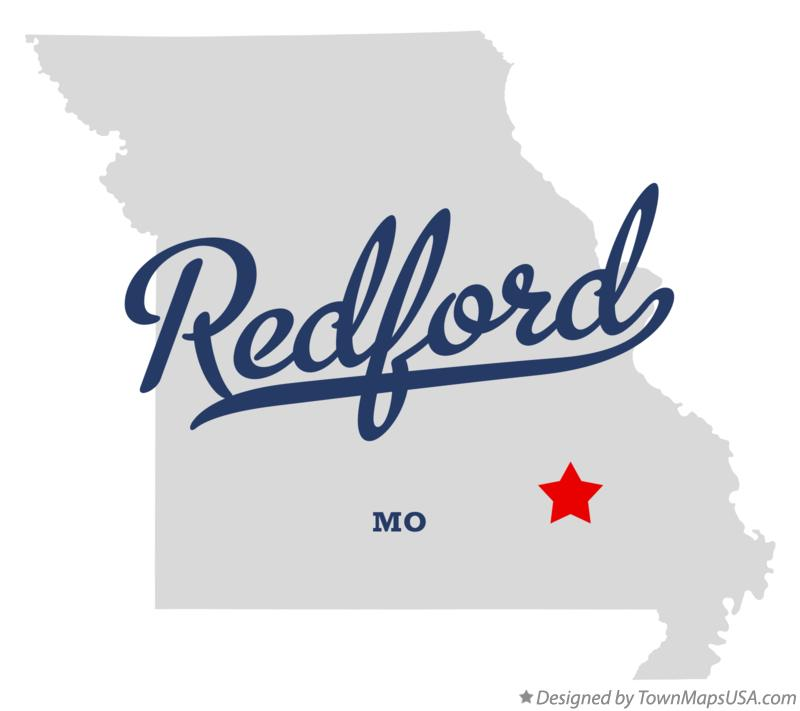 Map of Redford Missouri MO