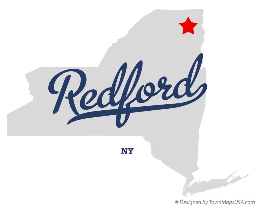 Map of Redford New York NY