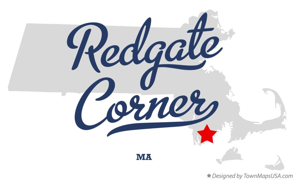 Map of Redgate Corner Massachusetts MA