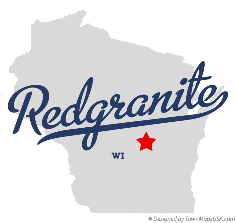 Map of Redgranite Wisconsin WI