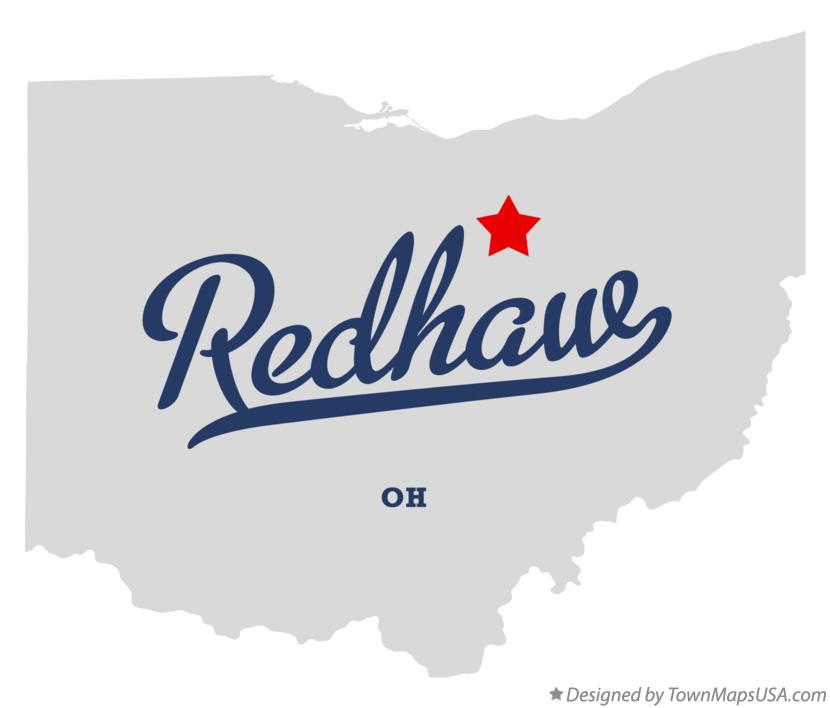 Map of Redhaw Ohio OH