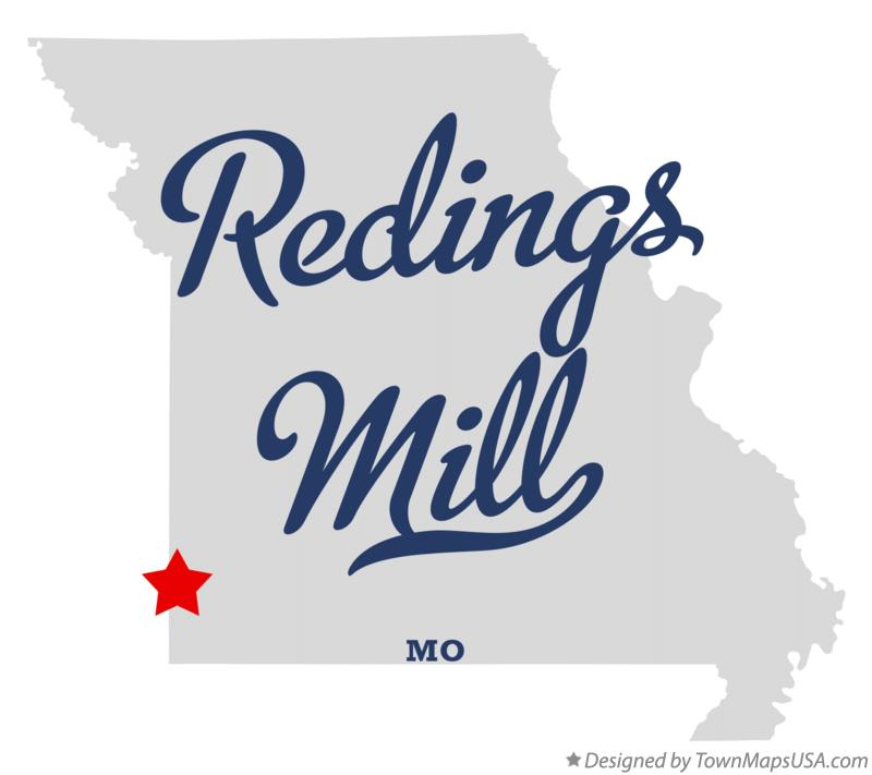 Map of Redings Mill Missouri MO