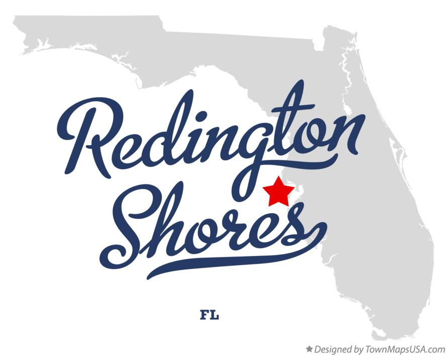 Map of Redington Shores Florida FL