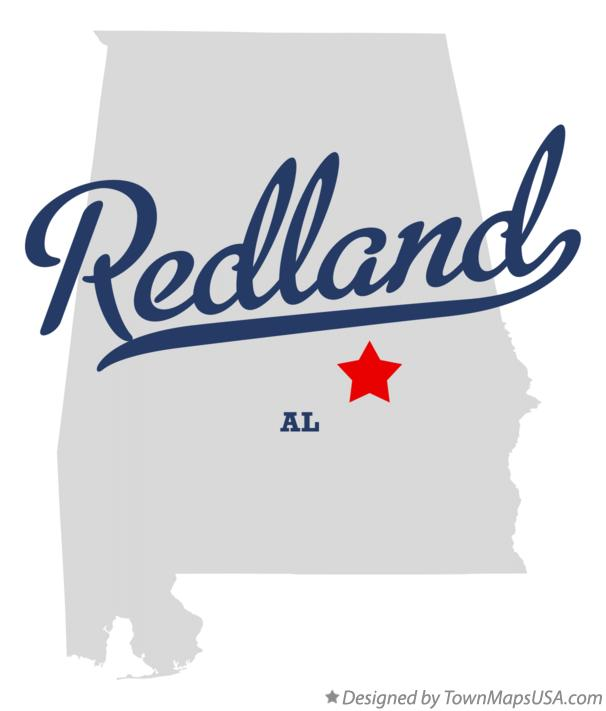 Map of Redland Alabama AL